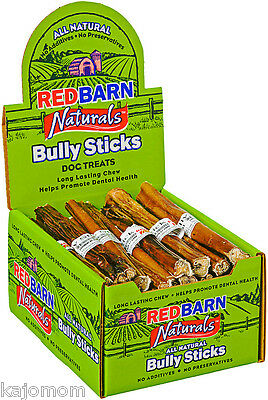 "(105) RedBarn 7"" Thick Beef Bully STICKS Dog Treat Chew LOW ODOR Natural 3 Cases"