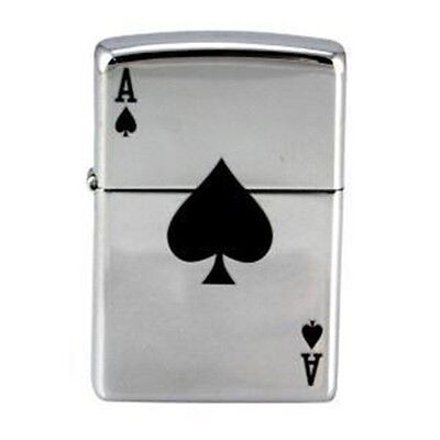 Ace of Spades Genuine ZIPPO Lighter -  Smoking - Pipe - Great Gift with Box