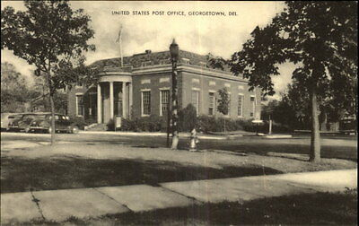 Georgetown DE United States Post Office Old Postcard