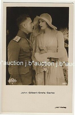 GRETA GARBO & JOHN GILBERT * Vintage 30s Photo PC by IRIS Verlag * AK # 5307