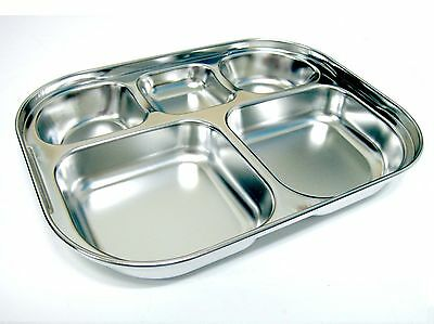 No Environmental Hormon Kid Snack & Food Stainless Steel Tray Harmless to human