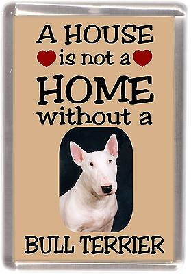 Bull Terrier White Fridge Magnet Design No5 Starprint