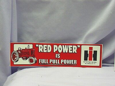 International Harvester - Red Power  Bumper Sticker