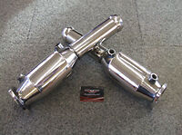 Aston Martin DB9 Catalytic Converters - DB9 DBS Performance 200 cell cats