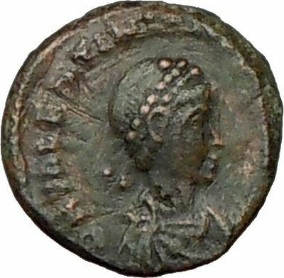 Valentinian II 388AD  Ancient Roman Coin Military Camp Gate  i16400