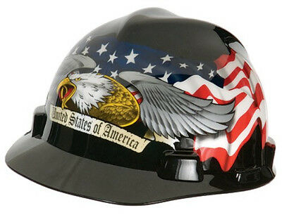 MSA Freedom Series American Eagle Hard Hat with Fas-Trac Suspension- 10079479