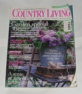 Country Living May 2008 - Garden Special/hedgerow Harvest/regional Foods