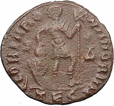 Valens 367AD  Ancient Roman Coin Labarum Chi-Rho Chist monogram i30870