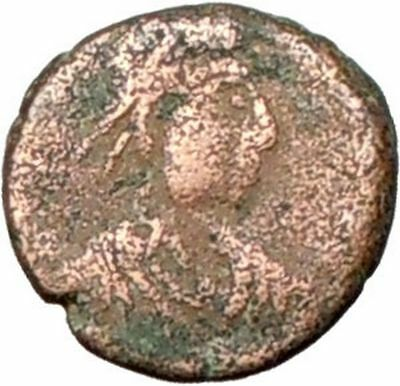 THEODOSIUS II 425AD Authentic Ancient Roman Coin CROSS within wreath  i28030