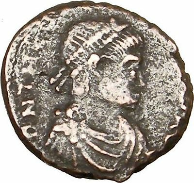 THEODOSIUS I the Great 388AD Ancient Roman Coin Military Camp Gate  i14963