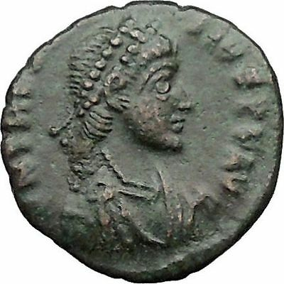 THEODOSIUS I the Great 388AD  Ancient Roman Coin Military Camp Gate  i31355