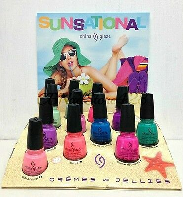China Glaze Nail Lacquer- SUNSATIONAL Collection- Bright Colors- Pick Any Color