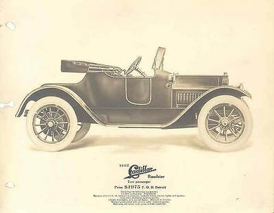 1913 Cadillac Showroom Album ORIGINAL Factory Photo Pages Lot wt3295