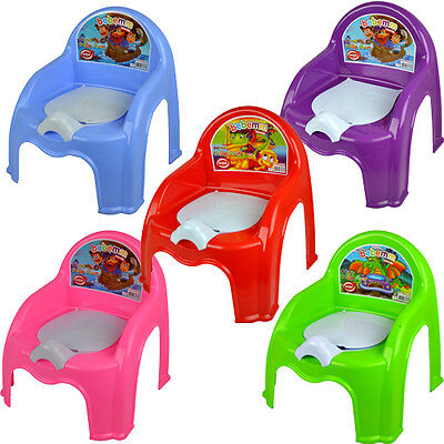 Childrens Potty Chair Easy Clean Kids Toddler Training Chair Seat Removable Lid