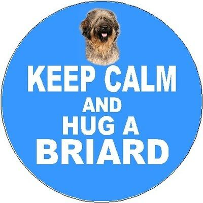 2 Briard Dog Car Stickers No 2 (Keep Calm & Hug) By Starprint