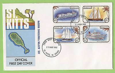 St. Kitts 1985 Visiting Ships set on First Day Cover