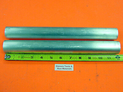 "2 Pieces 1"" 6061 ALUMINUM ROUND ROD 12"" long T6511 Solid 1.00""OD Lathe Bar Stock"