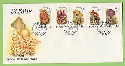 St. Kitts 1987 Fungi set on First Day Cover