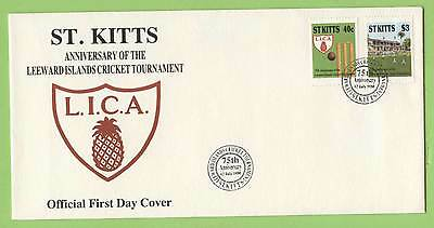 St. Kitts 1988 Cricket Tournament set on First Day Cover