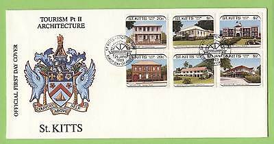 St. Kitts 1989 Tourism, architecture set on First Day Cover
