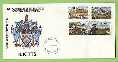St. Kitts 1990 Brimstone Hill set on First Day Cover