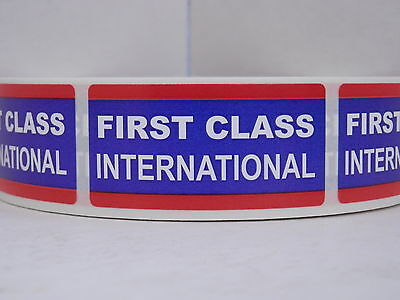 FIRST CLASS INTERNATIONAL USPS 1x2 Stickers Labels 250/roll