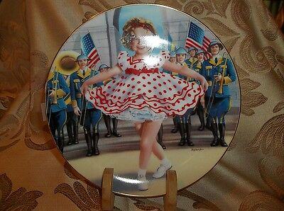 "The Danbury Mint: Shirley Temple Plate - 8.25"" STAND UP AND CHEER  130401029"