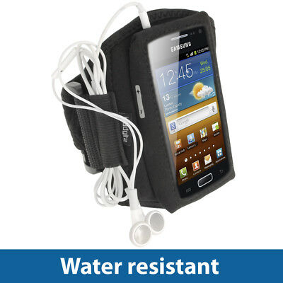 Black Sports Armband for Samsung Galaxy Ace 2 I8160 Android Gym Running Jogging