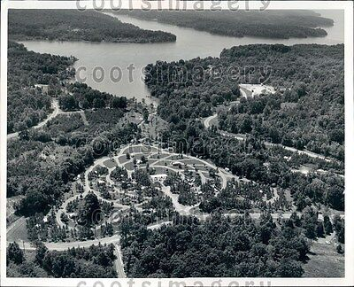 1969 Aerial Hillman Ferry Campground Land Between Lakes Kentucky Press Photo