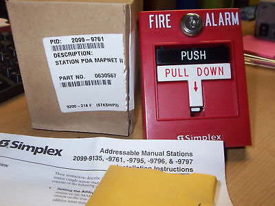 New Simplex 2099-9761 Addressable Pull Station Red