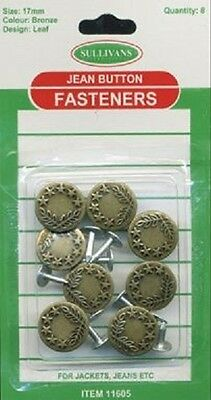 17mm Jeans Buttons
