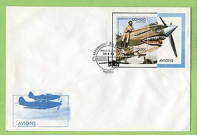 Congo 1996 Aircrafts miniature sheet on First Day Cover