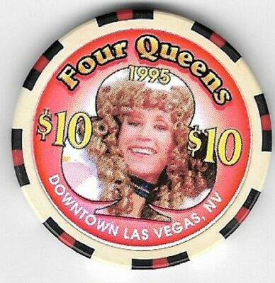 Four Queens Hotel $10.00 Showgirl Club Casino Chip Las Vegas Nevada