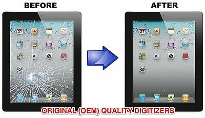 Apple iPad 4 CRACKED Digitizer Screen Replacement Repair Service -White or Black