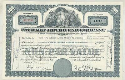 1953 Packard ORIGINAL Automobile Stock Certificate wt3610