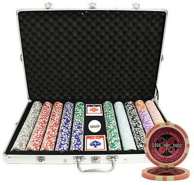 1000 14G Ultimate Casino Table Clay Poker Chips Set Custom Build