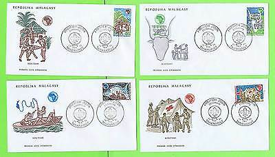 Madagascar 1974 set of four Scout First Day covers