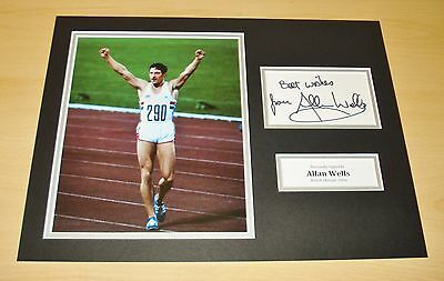 Allan Wells GENUINE HAND SIGNED Autograph 16x12 Photo Display Moscow 1980 + COA