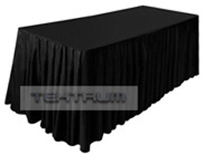 NEW 6' FITTED TABLE CLOTH JACKET skirt COVER BLACK-SHOW