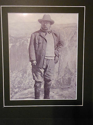 Theodore Roosevelt Photo in Yosemite Valley California Matted