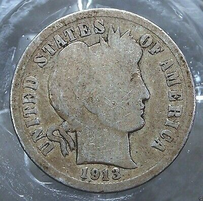 1913-P Good United States Barber Dime (90% Silver) .......#10722
