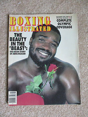November 1984 Boxing Illustrated  Magazine John The Beast Mugabi Cover