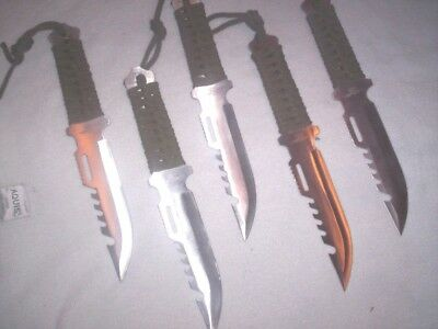 30 Survival Hunting knives Wholesale Lot Combat Fishing bug out bag Lightweight
