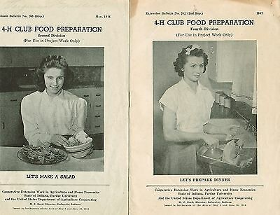 4-H Club Food Preparation Second & Fourth Division Bulletins from 1944  & 1947