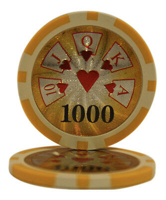 50pcs High Roller Casino Laser Clay Poker Chips $500