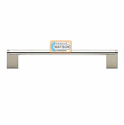 176mm Satin Stainless Steel Silver Modern Pull Handle Drawer Cabinet Office