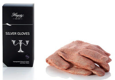 Hagerty Silver Cleaning Gloves 1 Pair for Cleaning Silver & Silver Plated Items