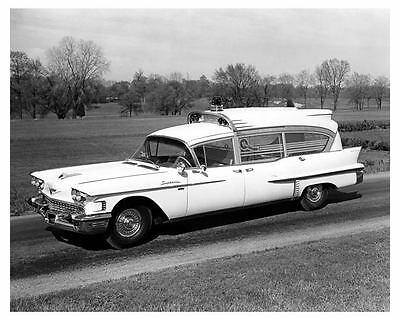 1958 Cadillac Ambulance Factory Photo ub2093-SJBZF6