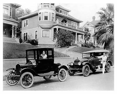 1922 Lincoln & 1921 Ford Photo Actor Douglas MacLean & Kitty O'Day ub2554