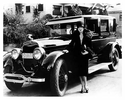 1926 Lincoln Sedan Factory Photo Silent Movie Actress Vilma Banky ub2574-NFFFOD